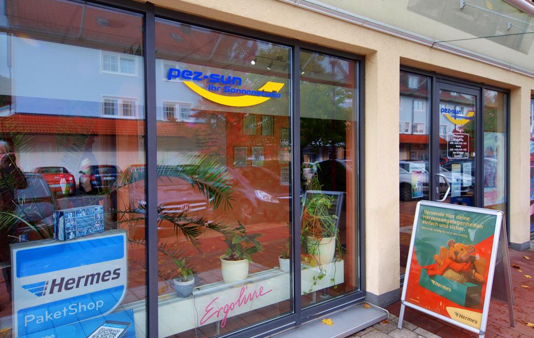 Sonnenstudio und Hermes Paketshop